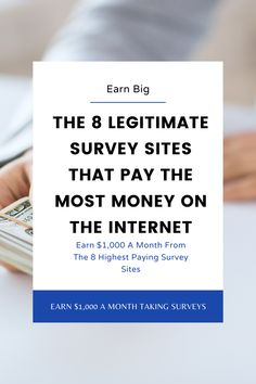 Survey Websites, Survey Sites That Pay, Legit Paid Surveys, Take Surveys, Earn Extra Cash, Way To Make Money, Earn Money, Internet Marketing, Affiliate Marketing
