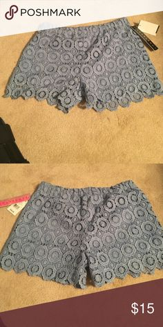 Blue lace shorts -lace,shorts Tinseltown Shorts