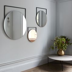 The Edna wall hung mirrors by MannMade London