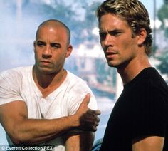 Vin Diesel as Dom Toretto and Paul Walker as Brian O´Connor in the Fast and Furious Actor Paul Walker, Paul Walker Dead, Paul Walker Movies, Cody Walker, Vin Diesel, Maybelline Mascara, Furious Movie, The Furious, Rock Music