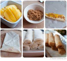 "Turon! (Banana ""Eggrolls"" w/ jackfruit & brown sugar)"