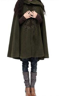Cute cloak from Artka. Love the boots and leggings underneath... an elvish…
