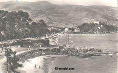 Ancienne photo de la Plage luquin et au fond St Cloud Plage