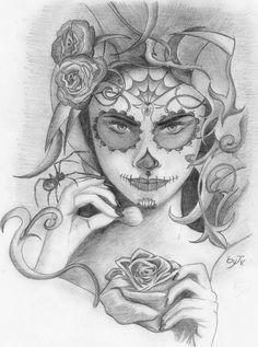 Dia de Los Muertos - byJv by jvillamarim.deviantart.com on @DeviantArt