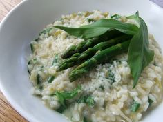 Wild Garlic and Asparagus Risotto ~ Lovely Greens