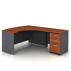 bow front right return l desk ofg ld1232 and other office and computer desks amazoncom bush furniture bow