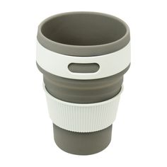Amazon.com : Arestech Travel Collapsible Cup Silicone Foldable Travel Mug Portable for Outdoor Camping and Hiking Picnic (Grey) : Sports & Outdoors