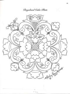 Rosemaling #embroidery #pattern