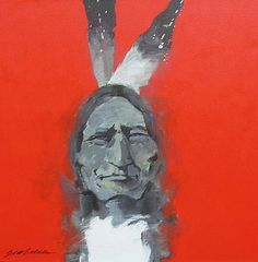 Sitting Bull Smiling by Bert Seabourn