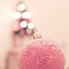 Image result for pink sparkly ornaments