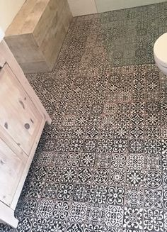 The Look Of Vintage Moroccan Inspired Bathroom Tiles. These Spanish Ceramic Floor  Tiles Are A Digital Reproduction Of This Artisan Look.