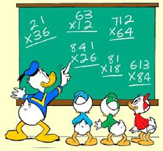 Retirement Cards For Men Backgrounds Info: 5456563753 Retirement Decorations, 3rd Grade Math Worksheets, Math Quotes, Donald And Daisy Duck, Walt Disney Characters, Disney Duck, Cartoon Wall, Disney Designs, Math Projects