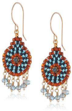 Miguel Ases Iolite Hydro-Quartz Small Dangle Drop Earrings on shopstyle.com
