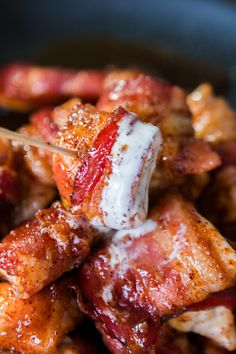Bacon wrapped chicken is always a hit when served at the family dinner table or…