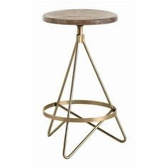 Distressed Wax and Vintage Brass. Available as counter stool or barstool.