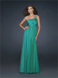One Shoulder A-line Gathered Pleated Beaded on Strap Chiffon Prom Dress PD10858 www.dresseshouse.co.uk $116.0000  ---2012 Prom Dresses, 2012 Prom Dresses UK,Prom Dresses,Prom Dresses UK,UK Prom Dresses