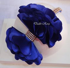 Tiara laço Fru-Fru azul royal