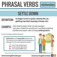 Phrasal Verbs: Relationships - Settle Down
