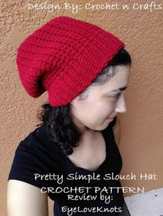 EyeLoveKnots  Pretty Simple Slouch Hat - Crochet Pattern Review - Crochet n  Crafts Slouch Hat 320057c27499