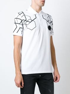 Philipp Plein polo con estampado geométrico Gents T Shirts 6e9964ed7ed50