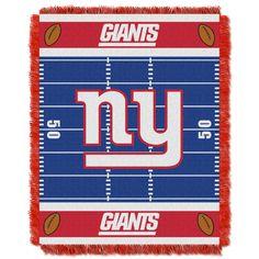 NY Giants Baby 36x46 Triple Woven Jacquard Throw - Field Series