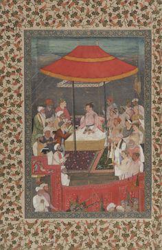 jahangir giving books to sheikhs 1660