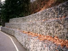 Gabion retaining walls from Modular Gabion Systems (for creekbank)