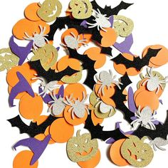 Halloween Confetti Halloween table confetti Spooky Party | Etsy