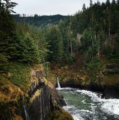 Gorgeous view of waterfalls at Hart's Cove!  Siuslaw National Forest, Neskowin, OR
