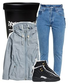 """Untitled #966"" by chynelledreamz ❤ liked on Polyvore featuring H&M, Vetements and NIKE"