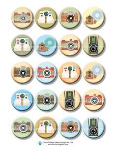 Vintage Photo Cameras 1 inch circles (or ) retro style bottle cap… Bottle Top Crafts, Diy Bottle, Bottle Caps, Cute Camera, Polaroid Camera, Glass Tile Pendant, Project Life Scrapbook, Retro Images, Bottle Cap Images