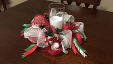 Beautiful christmas centerpiece ideas you should try 43 Christmas Mesh Wreaths, Christmas Swags, Christmas Crafts, Winter Wreaths, Wreath Fall, Prim Christmas, Spring Wreaths, Christmas Games, Summer Wreath