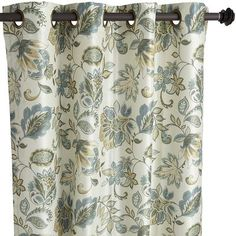 """Glencove Floral Curtain - Cool 96"""""""