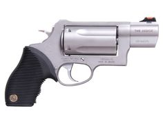 The Taurus Judge Public Defender: Carjackers Worst Nightmare.The Public Defender is a five shot revolver that holds either long colt or shotgun shells, or a combination of the two. Home Defense, Self Defense, Rifles, 410 Shotgun, Taurus Judge, Hand Cannon, Tac Gear, Home Protection, Shooting Guns