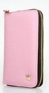 Amazon.com: Pink Samsung Galaxy Note 2 N7100 leather case / cover / wallet + Black HSINI Touch Screen Stylus Pen: Cell Phones & Accessories