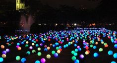 put glow sticks in a balloon and put them all over your yard......summer party~~