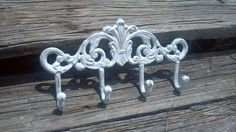 Hey, I found this really awesome Etsy listing at https://www.etsy.com/listing/197405472/on-sale-now-shabby-chic-cast-iron-white