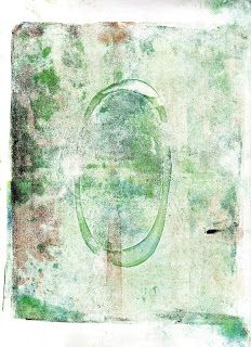 Ghost print layers made on the Gelli plate.