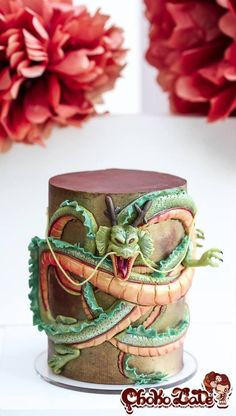 Have You Ever Seen A Dragon With Ruffles After 6H Of Patience My Dragon Shenron Made With Modeling Chocolate Is Finished