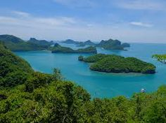 Angthong Marine Park - worth a Day Trip - with this amazing view.