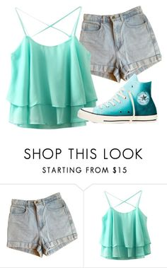 """Untitled #43"" by iouzzani ❤ liked on Polyvore featuring American Apparel and Converse"