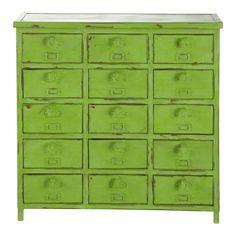 Ladekast/kabinetkast indus groen EDISON - Maisons du monde