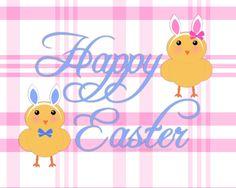 FREE Happy Easter Printable via www.agapelovedesigns.com