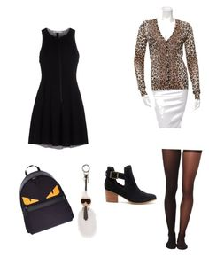 """""""Sin título #86"""" by nudul on Polyvore featuring moda, T By Alexander Wang, Dolce&Gabbana, Wolford, Fendi y Sole Society"""