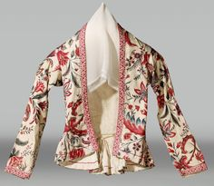 Date of creation: 1750 - 1850 18th Century Dress, 18th Century Fashion, Historical Costume, Historical Clothing, Chintz Fabric, Vintage Outfits, Vintage Fashion, Period Outfit, Tribal Fashion