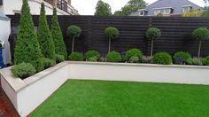 Contemporary Garden Design Ideas For Small Gardens provided Landscape Gardening Franchise near Landscape Gardening Kilmarnock. Black Garden Fence, Garden Fencing, Garden Beds, Garden Walls, Black Fence, Garden Shrubs, Fence Plants, White Fence, Garden Pool
