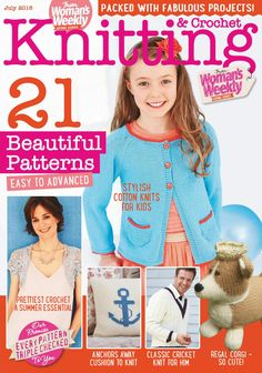Knitting & crochet from woman's weekly july 2016