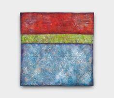Horizon XV24 x 24 inches, acrylic paint on stitched textile