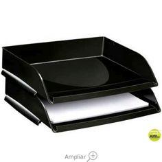 BANDEJA SOBREMESA CEP PLASTICO NEGRA 348X257X66 MM Tray, Dessert Tray, Trays