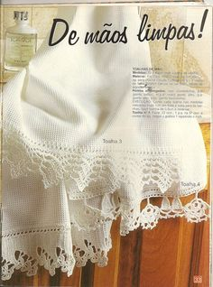 crochet border edging free pattern